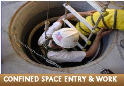 Enter and work in confined spaces