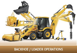 Conduct backhoe / loader operations