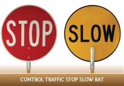 Control traffic with stop-slow bat