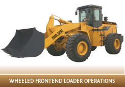 Conduct civil construction wheeled front end loader operations